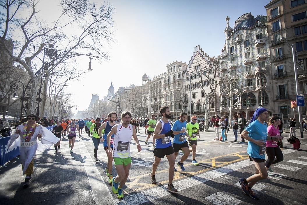 passeig gracia Zurich Marato Barcelona